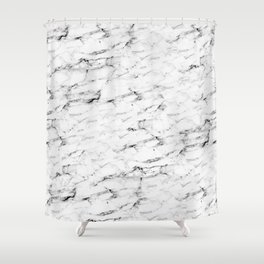 Real Marble Shower Curtain