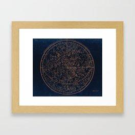 Constellations of the Northern Hemisphere Framed Art Print