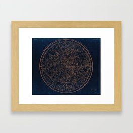 Constellations of the Northern Hemisphere Framed Art Print