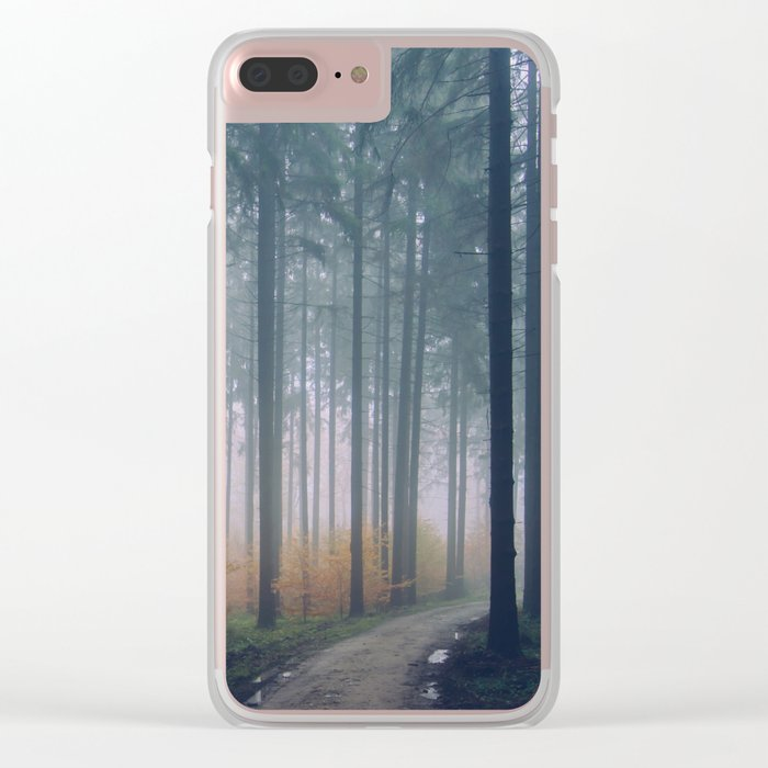 Into the woods #fog Clear iPhone Case