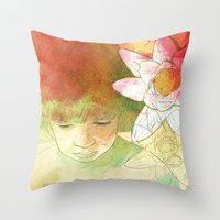 child Throw Pillows featuring child by Sabine Israel