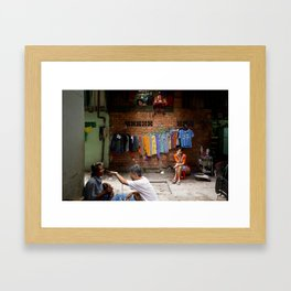 The lonely finger Framed Art Print