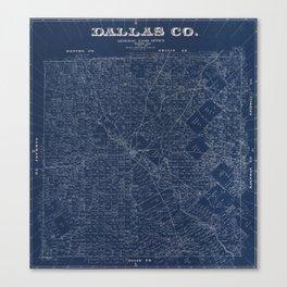 Map Of Dallas 1884 Canvas Print