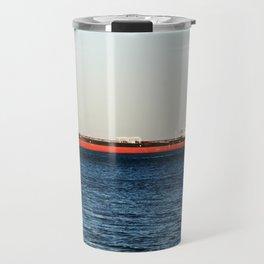 Cargo Ship Seascape Travel Mug