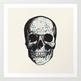 T-Skull Art Print