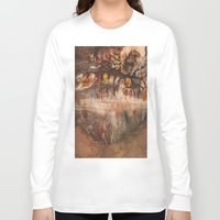 middle earth Long Sleeve T-shirts featuring Middle of the Earth by Loredana