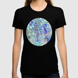 Blue, Mint & Purple T-shirt