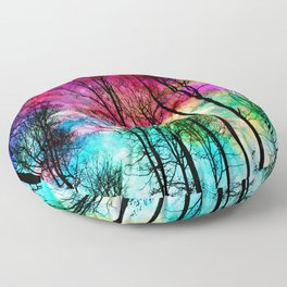 Colorful sky Floor Pillow