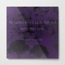 Edgar Allan Poe: Annabel Lee Metal Print