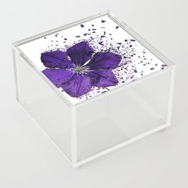Purple flower Explosion Acrylic Box