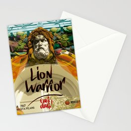 lion warrior - cara dura! Stationery Cards