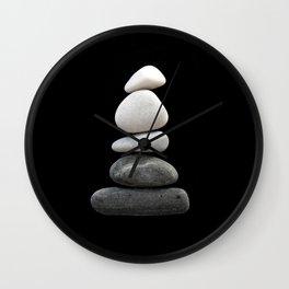 balance pebble art Wall Clock