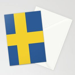 Sweden flag emblem Stationery Cards