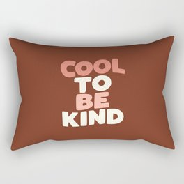 COOL TO BE KIND peach pink and white Rectangular Pillow
