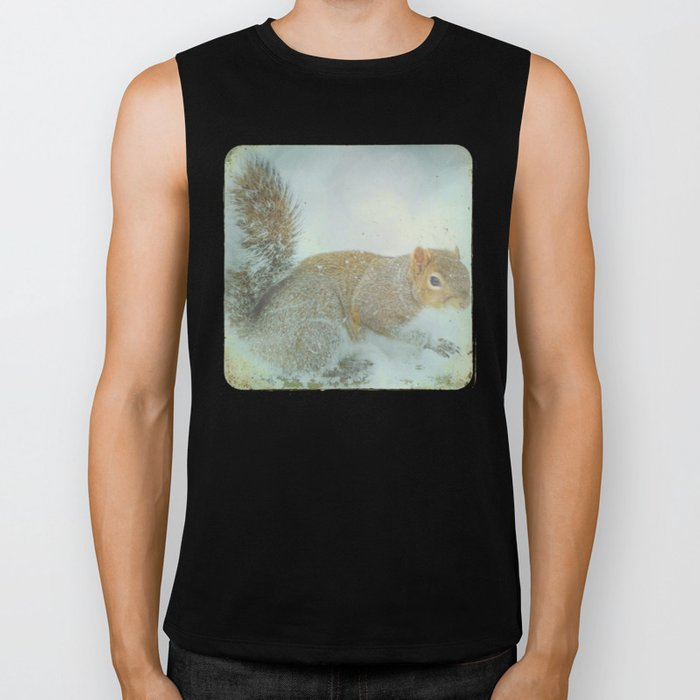 Winter Squirrel Biker Tank