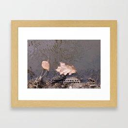 water spring leaves Framed Art Print