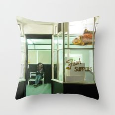 It's a waiting game Throw Pillow