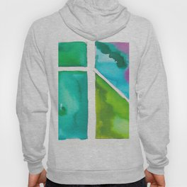 180811 Watercolor Block Swatches 9 | Colorful Abstract |Geometrical Art Hoody