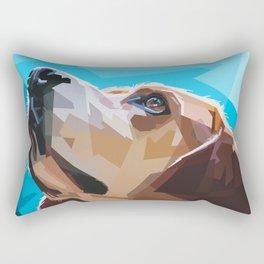 Beagle Dog Illustration Rectangular Pillow