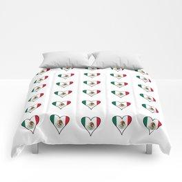 Flag of mexico 4- mexico,mexico city,mexicano,mexicana,latine,peso,spain,Guadalajara,Monterrey Comforters