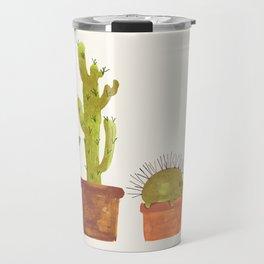 Hedgehog and Cactus (incognito) Travel Mug