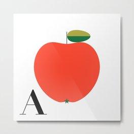 Alphabet Retro A Metal Print