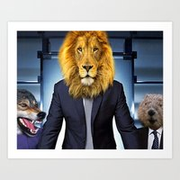 narnia Art Prints featuring welcome to narnia by GingerRogers