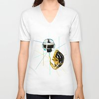 daft punk V-neck T-shirts featuring Daft Punk by Naje Anthony Hart