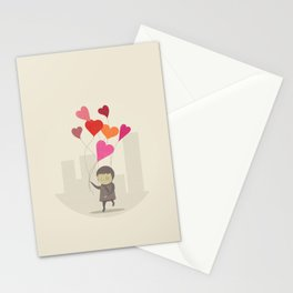 The Love Balloons Stationery Cards