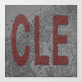 HOME IS CLE Canvas Print