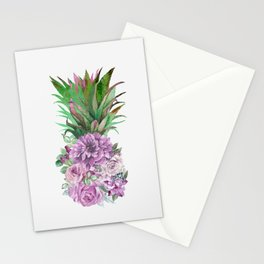 Floral Pineapple 1 Stationery Cards