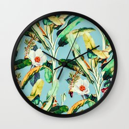 Flowers in the banana trees Wall Clock