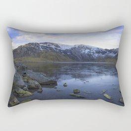 Frozen Lake Idwal Rectangular Pillow