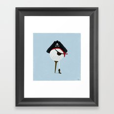 Pirate of the Open Tees Framed Art Print
