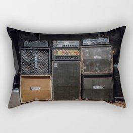 Heavy Metal Amp Stack Rectangular Pillow
