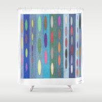 matrix Shower Curtains featuring Magic Matrix by SaraLaMotheArt