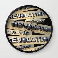 revolution Wall Clocks featuring Revolution by politics