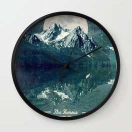 Sawtooths: Stanley Lake Wall Clock
