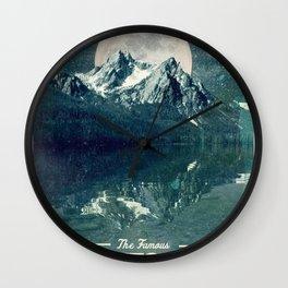 Sawtooths: Stanley Lake Wall Clock