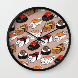 Sushi Poodle Wall Clock