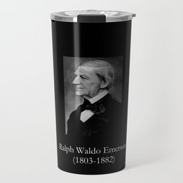 portrait of Ralph Waldo Emerson Travel Mug