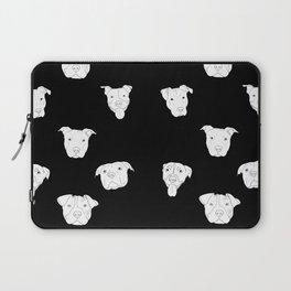 Black pit bull love Laptop Sleeve