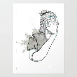 Overworked and underpaid Art Print