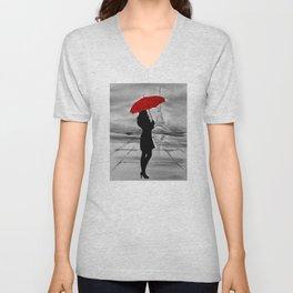 The Red Umbrella Unisex V-Neck