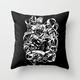 Lady in Belts Fantasy. ©Yury Fadeev Throw Pillow