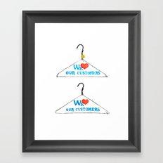 Hanger Appeal Framed Art Print