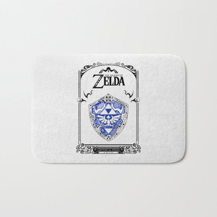 Zelda legend - Hylian shield Bath Mat
