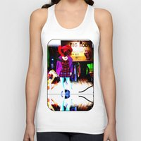 shopping Tank Tops featuring Window Shopping by Khana's Web
