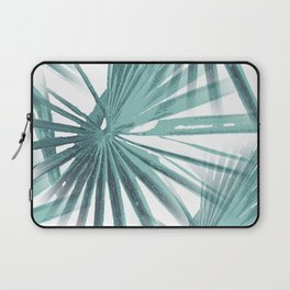Teal Aqua Tropical Beach Palm Fan Vector Laptop Sleeve
