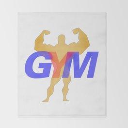 GYM Man 1 Throw Blanket